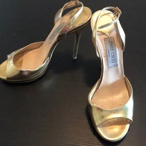 Metallic Gold Jimmy Choo Size 39.5